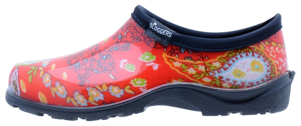 Slogger Shoes in Paisley Red