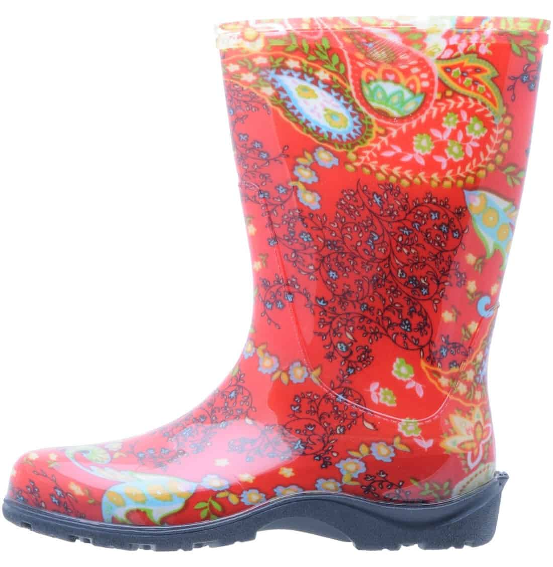 Slogger Boots in Paisley Red