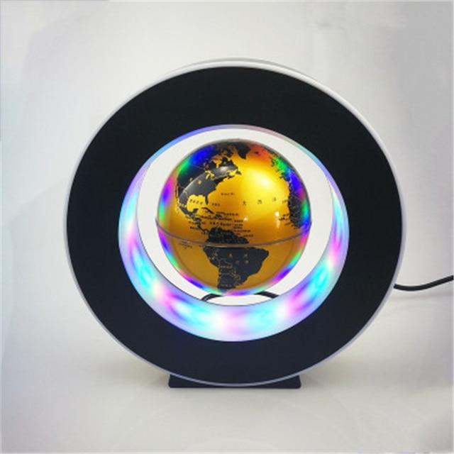 O Shape Magnetic Levitation 3 inch Geography Globe Floating World Map luminous LED Light Terrestre Kid Learning Toys home decora Figurines & Miniatures 